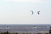 Kite Surfers in Lakes Bay Near Atlantic City New Jersey June 6, 2010 getting 'A Little Air'