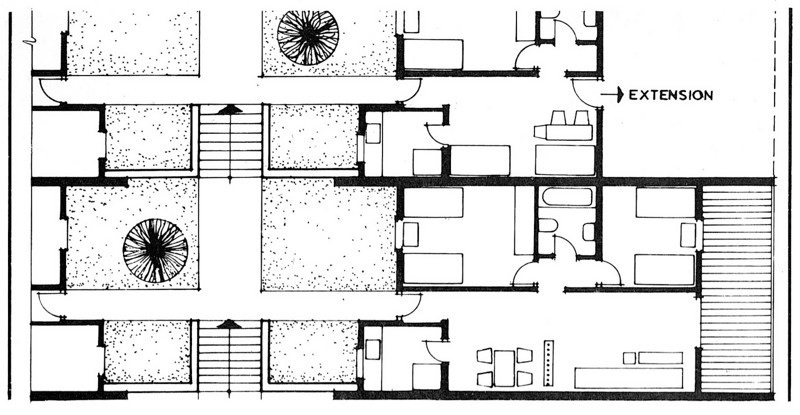 Plan of One Family Row-Houses
