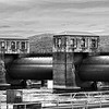 Trempealeau Lock and Dam B/W