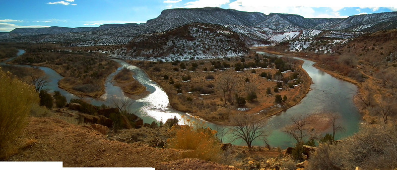 This is the Rio Chama between Abiguiu and Espanola