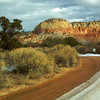 Entering Ghost Ranch, a 21,000 acre land grant that is very old. It now belongs to the Presbyterian church, donated to them in the 30's.