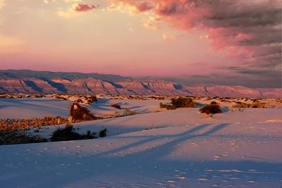 White Sands - Sunset