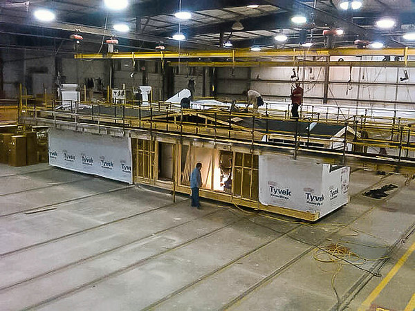 I am guessing from the roof line that this is 3rd floor bathroom (right) and my office in the Excel factory in Liverpool, PA, from our builder
