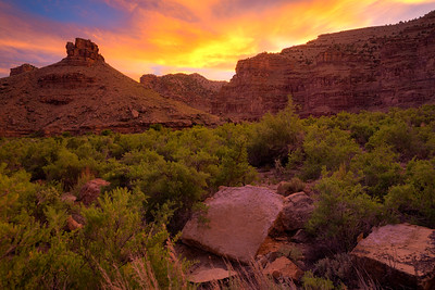 Sunset at the Heart of Nine Mile canyon.