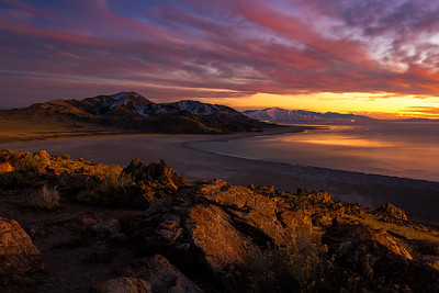 Antelope Island sunset
