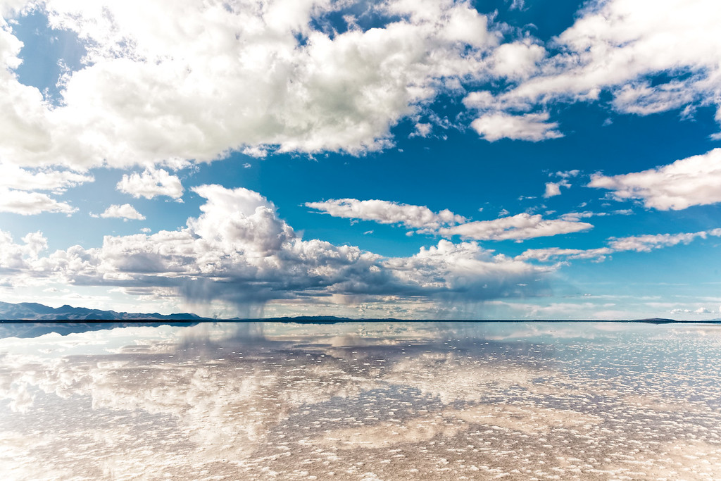 Fluffy clouds at the Great Salt Lake 4-9-16