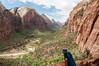 Andy views Zion Canyon