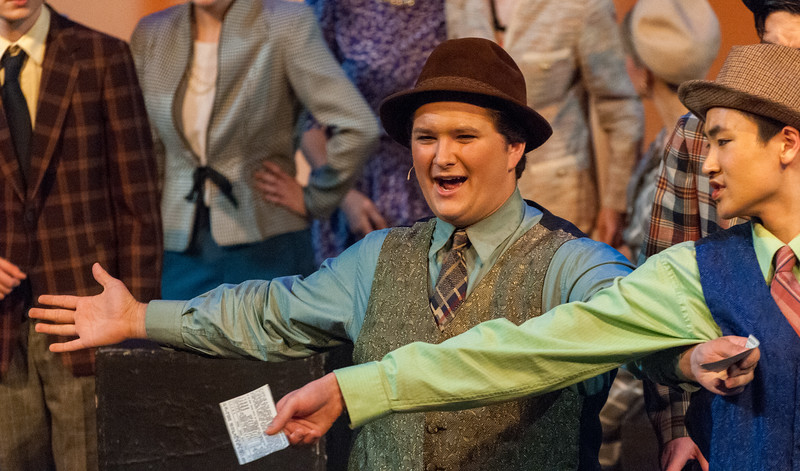 """In May, John played """"Rusty Charlie"""" in the HHS production of """"Guys & Dolls""""."""