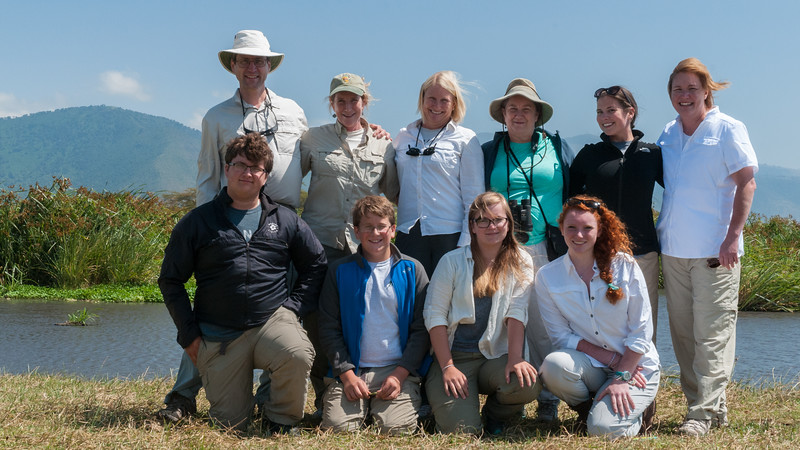 With our extended family in Ngorogoro crater, Tanzania.