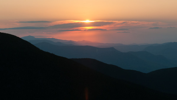 On return from Florence, David took advantage of his jet-leg to hike Mount Moosilauke to catch this sunrise view from South Peak.