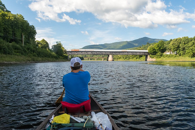 We continued our annual canoe trip down the Connecticut River - this year, starting at home and going downstream. Here, Andy and I approach the Cornish-Windsor bridge.