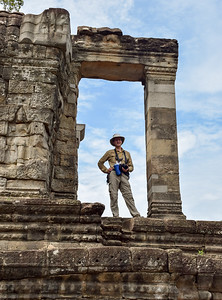 David at Angkor Thom, Cambodia. Photo by Robin Kravets.