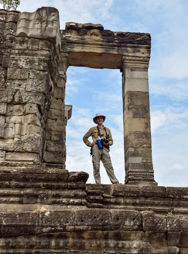 David at Angkor Thom, Cambodia. Photo by Robin Kravets.