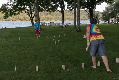 Andy and John discover a new game called Kubb, when we visited Granny Kate and Grandpa Jack in Cooperstown NY.