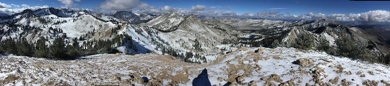 Panorama from Sunset Peak, Utah.