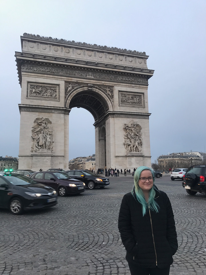 Mara stopped in Paris at the end of her European travels.