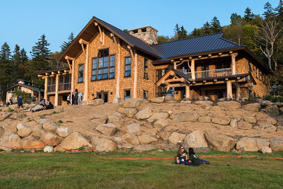 David helped with the final preparations to open the brand-new Moosilauke Ravine Lodge.