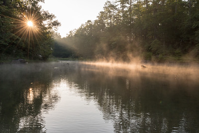 The outlet of Little Crow Creek, early one August morning on Lake Keowee, SC.