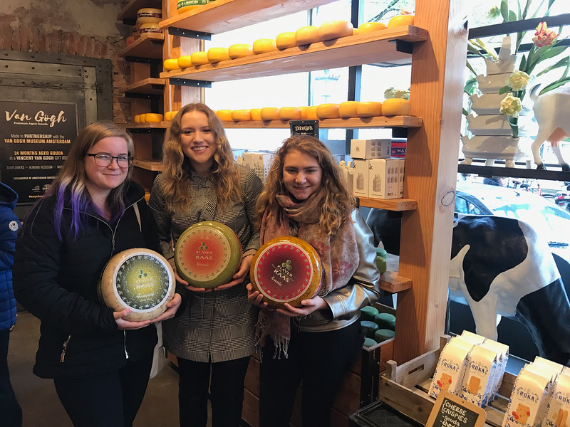 Mara traveled in Europe for the fall; here in Amsterdam with Vicki and Emily.