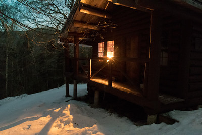 Andy and David joined friends for a weekend at John Rand Cabin on Mount Moosilauke.
