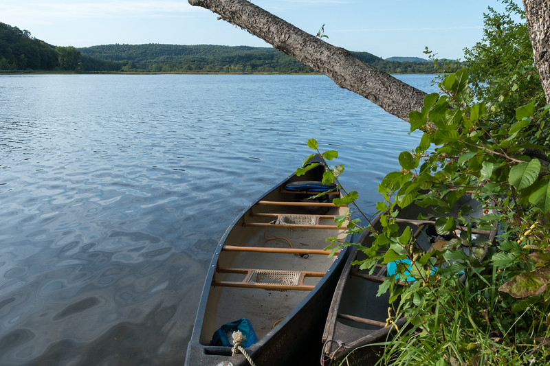 We continued our annual canoe trip on the Connecticut River; here camped close to Bellows Falls.