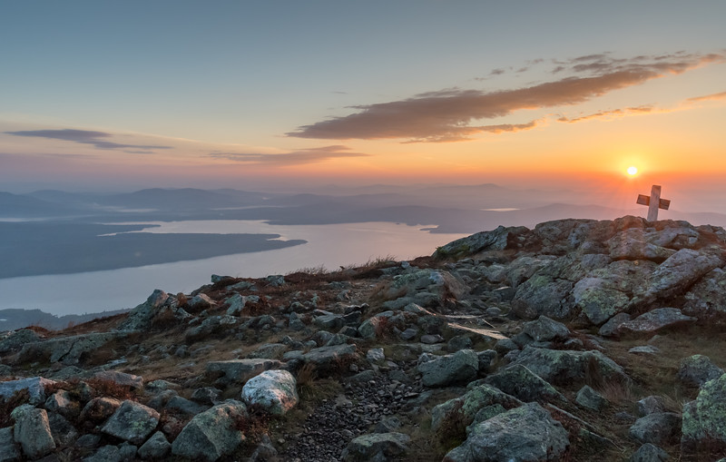 David hiked the Bigelow range in Maine, with this sunrise from Avery Peak.