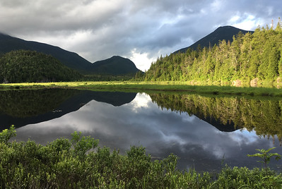 David spent several weekends in the Adirondack Mountains; here a sunset view from Flowed Lands lean-to.