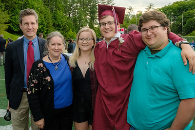 Family with Andy after his graduation from HHS. Photo by Jack Kotz.
