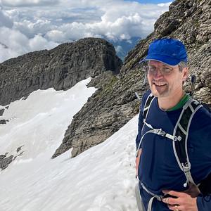 David on the Lisengrat ridge, not far from the Säntis summit.