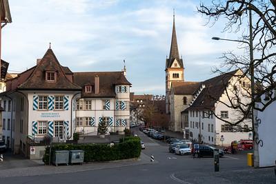 Restaurant Thiergarten and Munster tower in background.