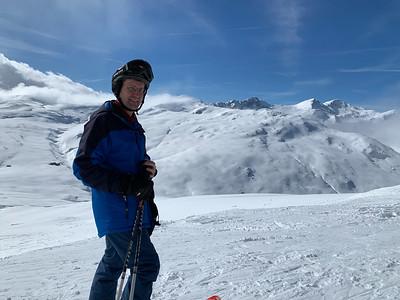 David at the ETH-St.Gallen lab ski day at Obersaxen, Switzerland.