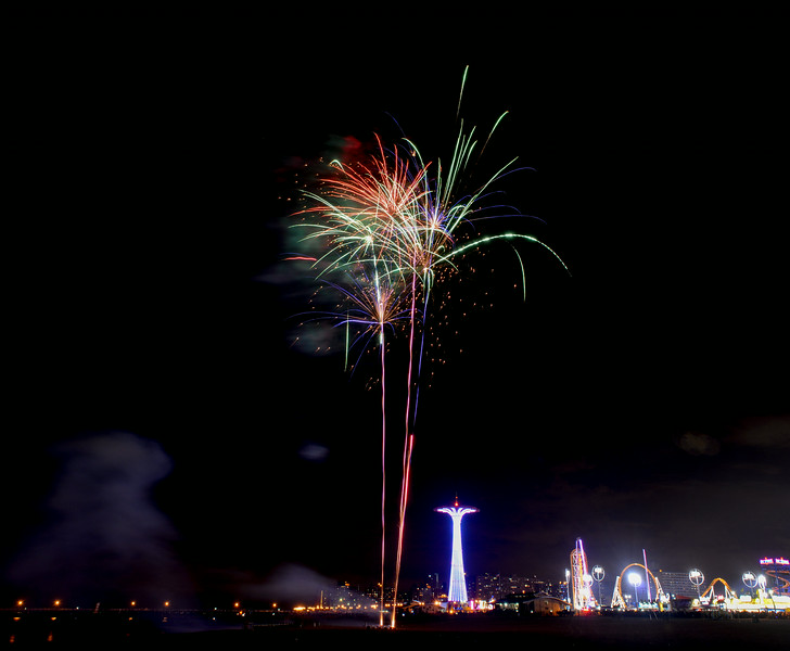 Coney Island Beach Fireworks