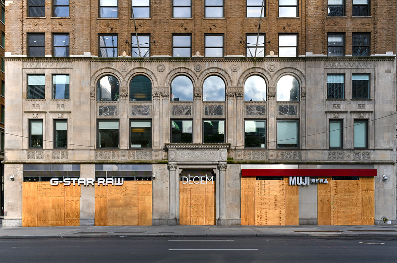 Boarded Up Stores - New York City