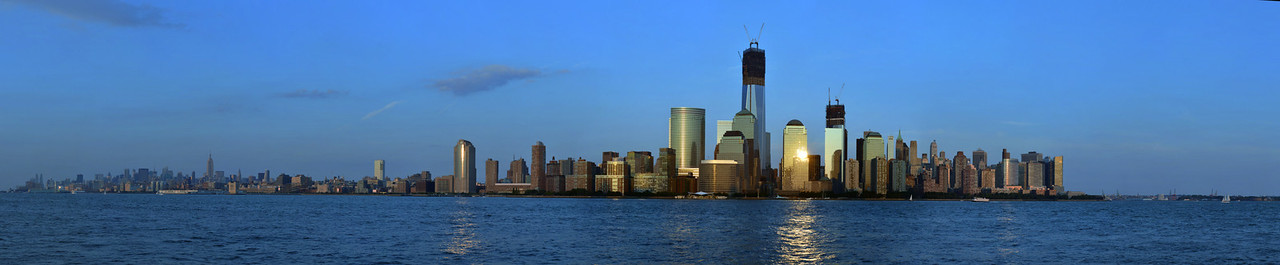 Sunset View of Manhattan from New Jersey