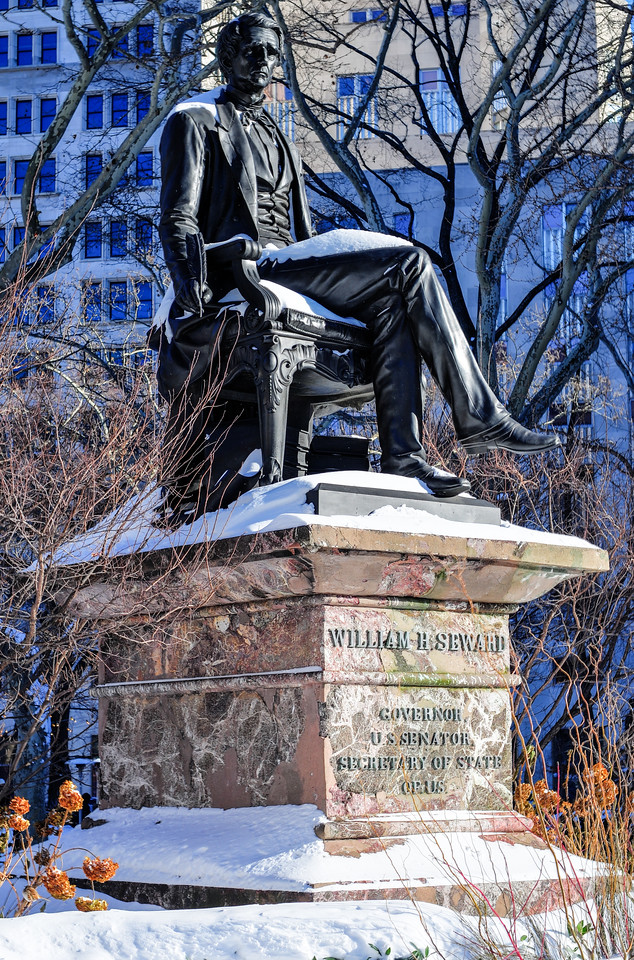 William H. Seward statue at Madison Square Park. He served as the 12th Governor of New York, United States Senator and the United States Secretary of State. He helped the USA purchase Alaska.