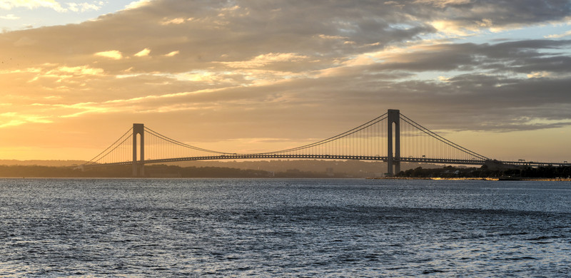 Verrazano Narrows Bridge at Sunset