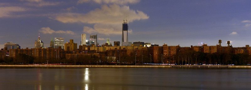View of Manhattan from Williamsburg following the Power Outage as a result of Hurricane Sandy.