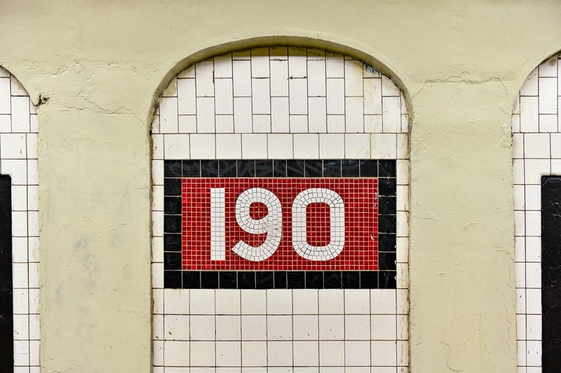 190th Street Subway Station - New York City