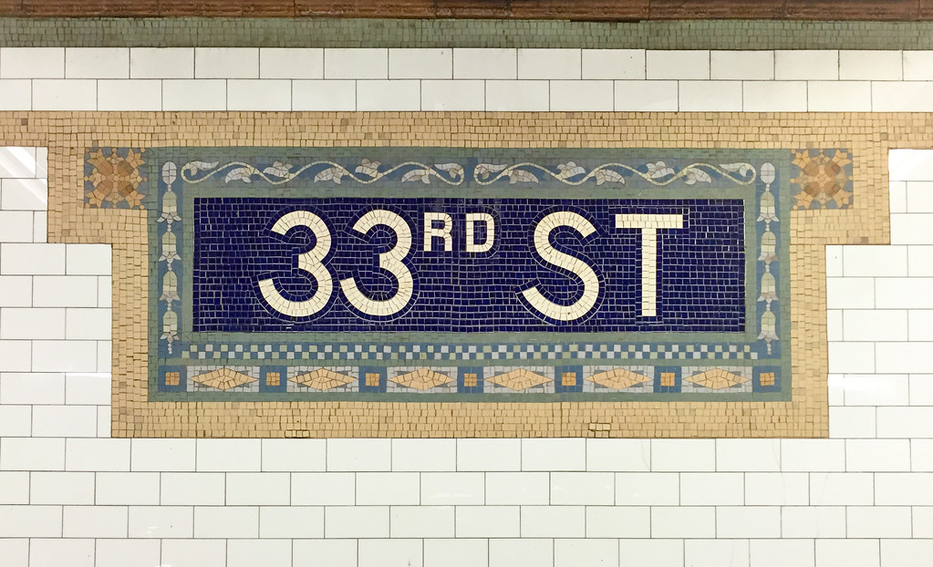 New York City Subway Station - 33rd Street