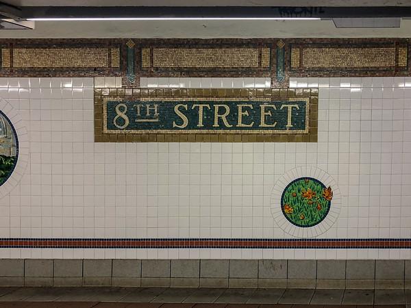 8th Street Subway Station - New York City