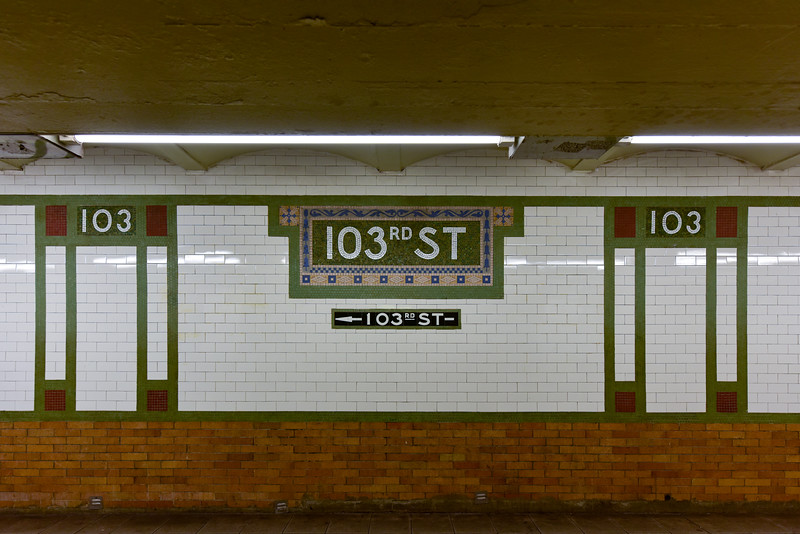 103rd Street Subway Station - NYC