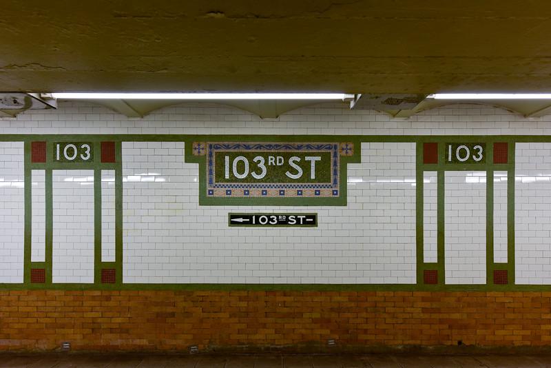 103rd Street Subway Station - NYC