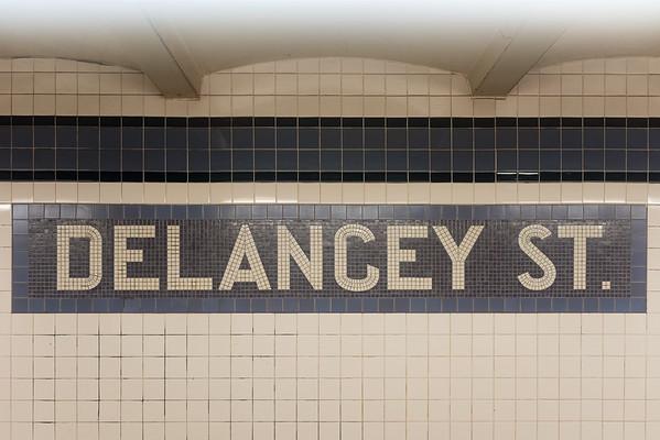 Delancey Street Subway Station - New York City
