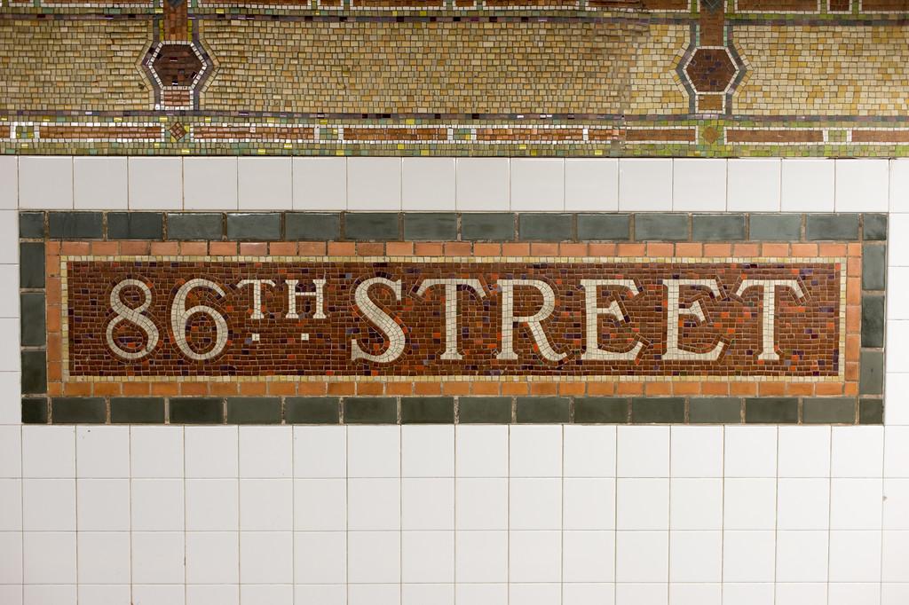 86th Street Subway Station Sign, New York City
