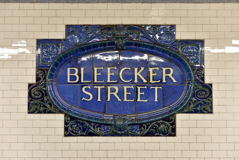 Bleecker Street Subway Station - New York City