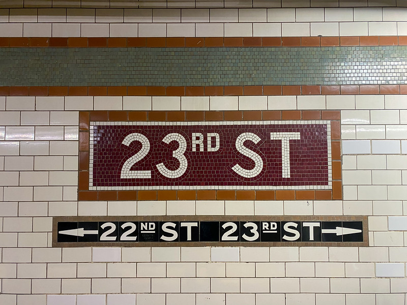 23rd Street Subway - New York City