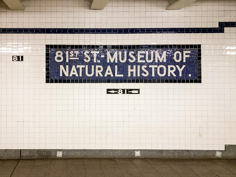 81st Street Station Subweay - New York City
