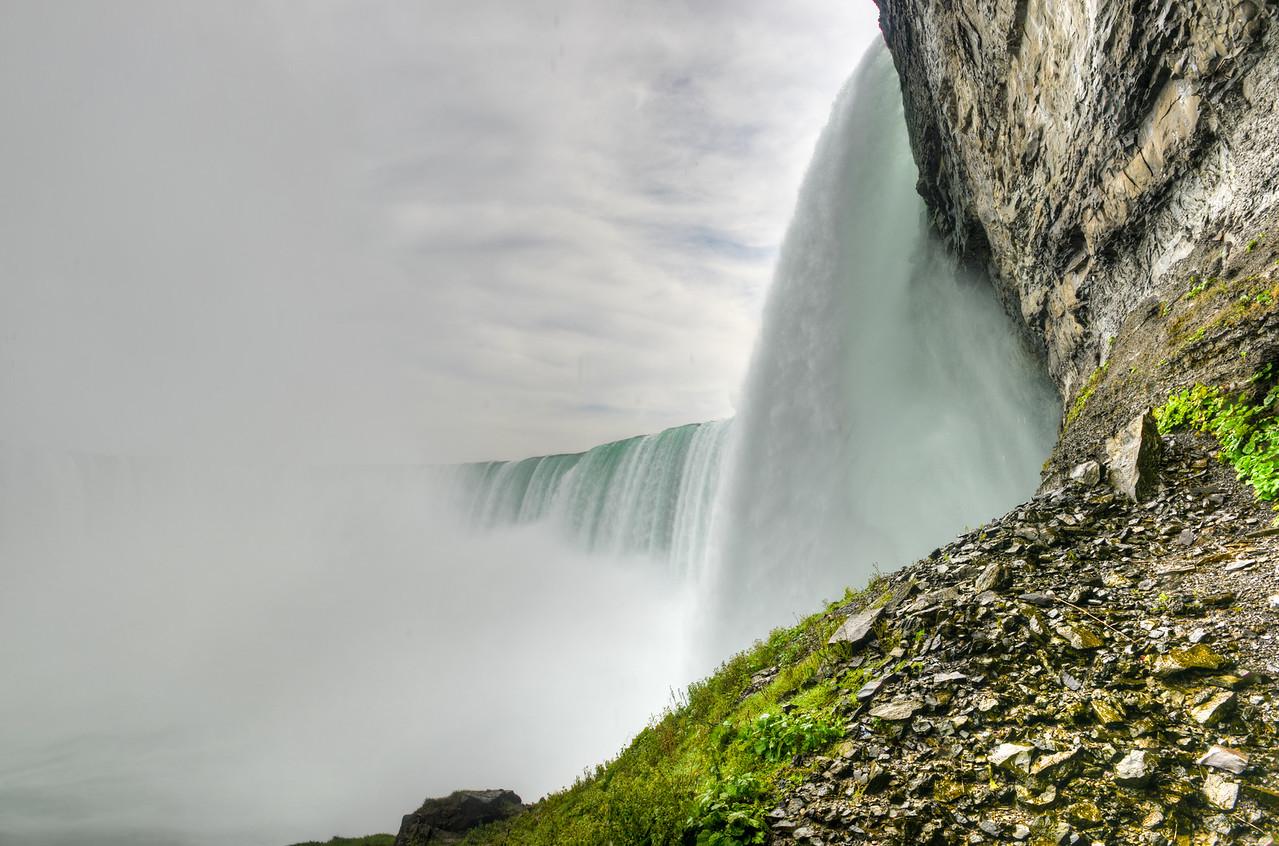 Underside of Horseshoe Falls, Niagara Falls