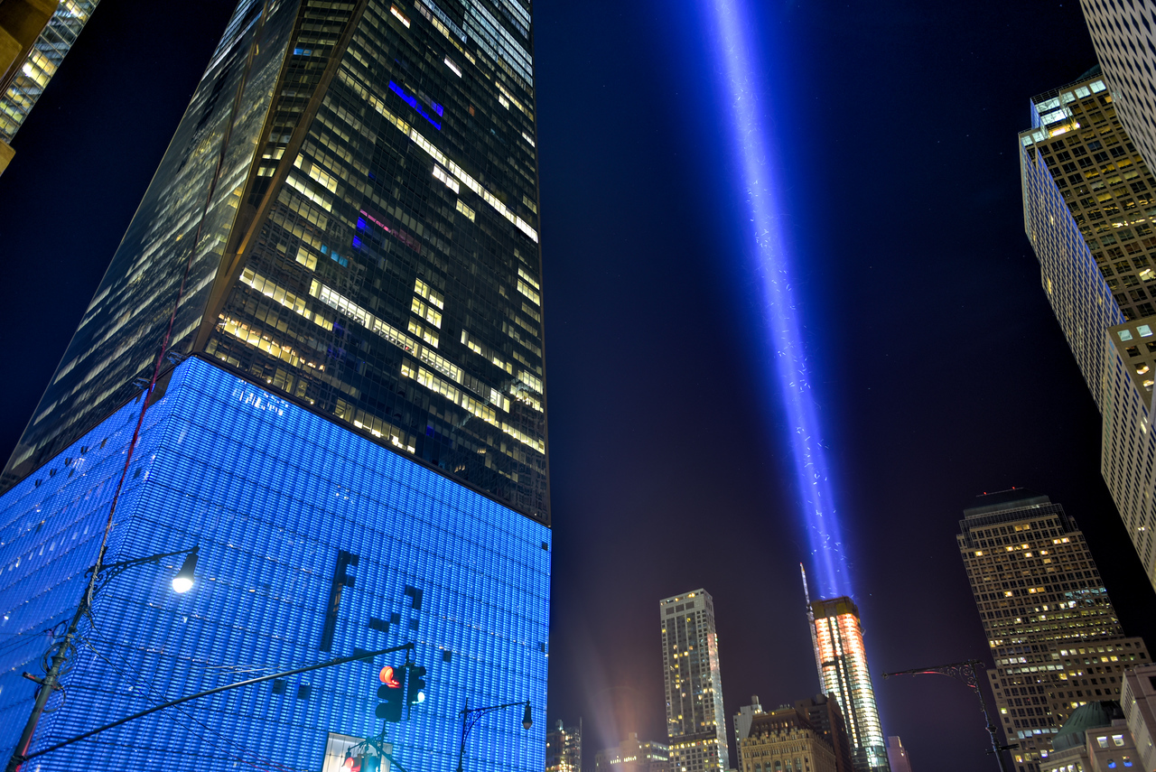 September 11th Tribute in light - New York City.