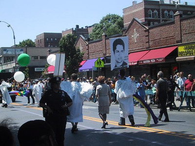 """Angels"" for Edgar Garzon - Columbian-American gay man killed in Jackson Heights."